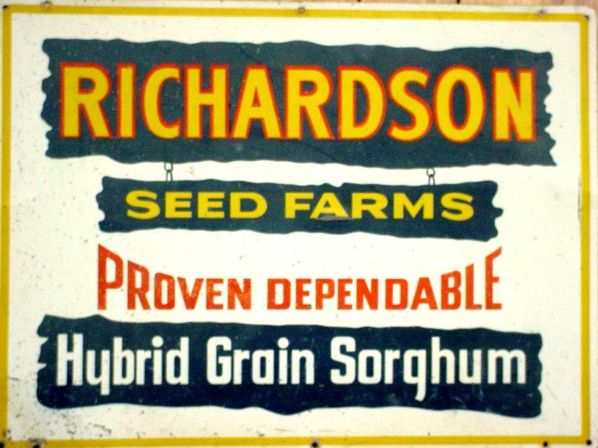 Richards Seed Farms Sign